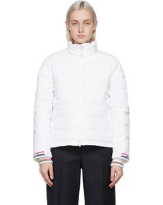 白色RWB漏斗领羽绒夹克