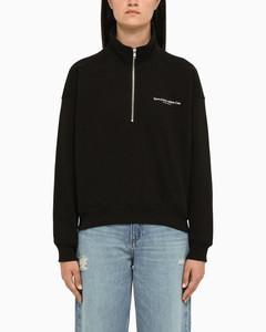 Warm Hoodie Dress Black