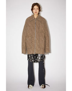 Oversized zip coat