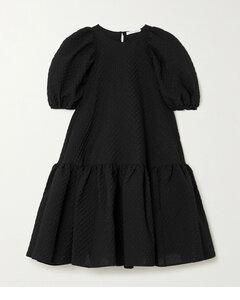 Edition Alexa Oversized Tiered Cotton-blend CloquéMini Dress