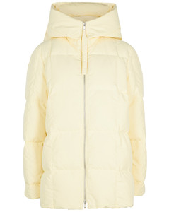 Cream quilted shell coat