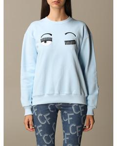 cotton sweatshirt with eyes flirting embroidery