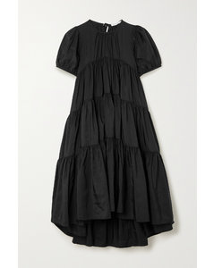 Edition Esme Oversized Tiered Recycled Faille Dress