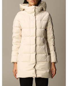 down jacket with nylon hood