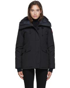 黑色Rideau羽绒派克大衣