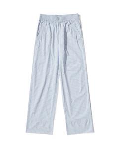 Stripe straight pants