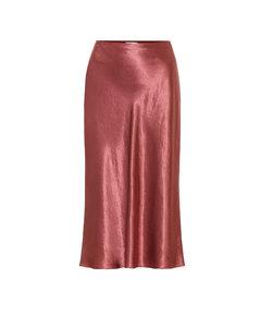 緞布中長半身裙