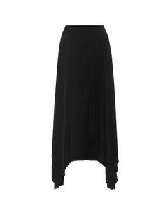 褶裥中長半身裙