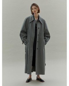 (Priority Shipping)ArmholeStitch Trench_BlueGreen