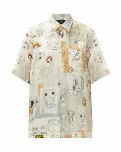 X Yoshitomo Nara Ricky silk shirt