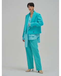 NEM Double-breasted Peak Label Short Jacket