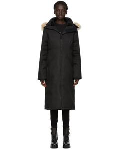 黑色Elrose黑标羽绒派克大衣