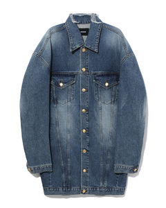 Denim overcoat