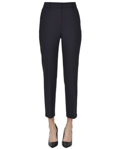 short double-breasted black coat