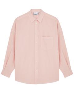Pink gingham stretch-knit bra top