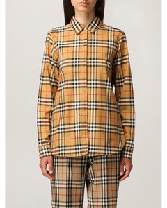 oversize shirt in cotton with vintage check pattern