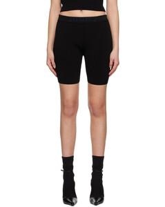 黑色縐紗可拆卸圍巾連衣裙
