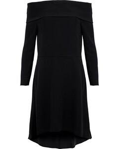 Kensington off-the-shoulder crepe dress
