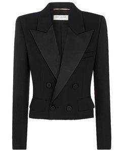 初剪羊毛短款塔士多西装式外套