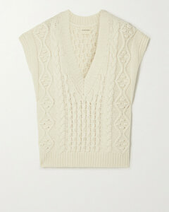 Toretta Oversized Cable-knit Wool And Cashmere-blend Tank