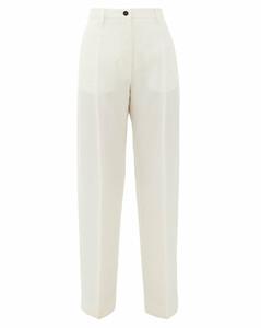 Mattia high-rise gauze trousers