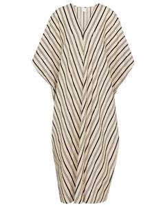 Nebbie striped linen-blend kaftan