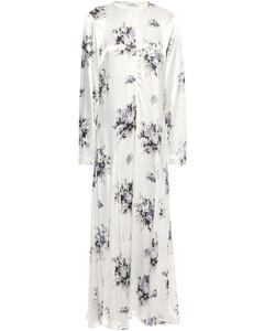 Woman Cameron Fluted Printed Satin Maxi Dress