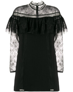 sheer lace sleeve dress