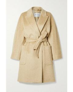 Crine Belted Camel Hair Coat