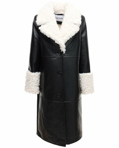 Linda Embossed Faux Leather Coat