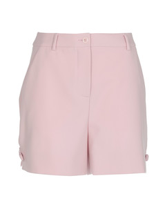 Cropped wool-twill tapered trousers