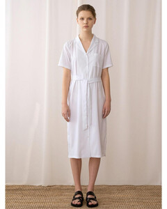 A Pin Striped Dress_White