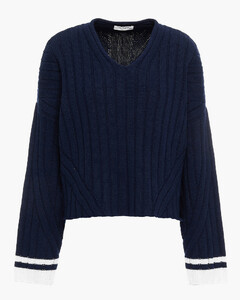 Woman Ribbed Wool-blend Sweater