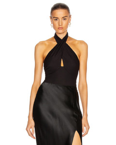 Onore high-rise suede midi skirt
