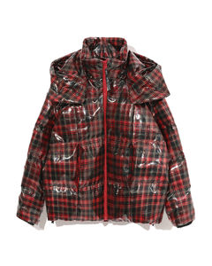 xtreme plaid PVC down jacket