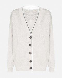 Cotton and viscose cardigan