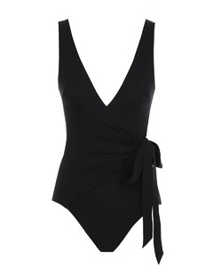 FF-embroidered short-sleeve denim playsuit