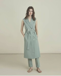 OUTLET Harris Wharf Waistcoat Trench Dress Colour: Pastel Green