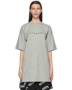 灰色Friendly Logo T恤