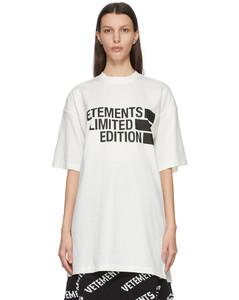 """白色""""Limited Edition""""Big Logo T恤"""