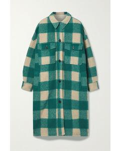 Fontizi Oversized Checked Flannel Coat - 0