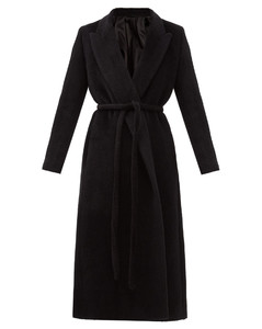 Double-breasted waist-tie coat
