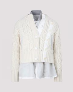 Nylon Twill Mix Blouson Coat