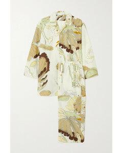 Casablanca Floral-print Cotton And Silk-blend Pajama Set