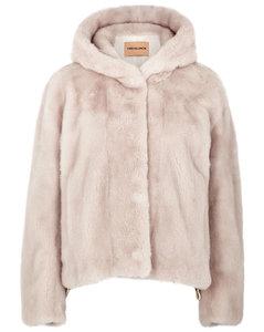 Blush mink fur jacket