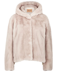 Blush mink fur jacket