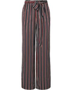 Easy striped charmeuse wide-leg pants