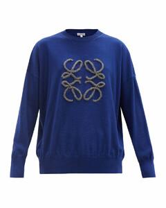 Anagram-appliquéwool-blend sweater