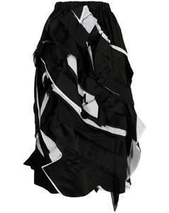 Evita monochrome one-shoulder midi dress