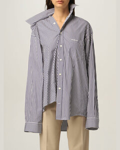 unstructured striped shirt